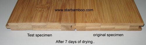Soaked bamboo flooring - now dry