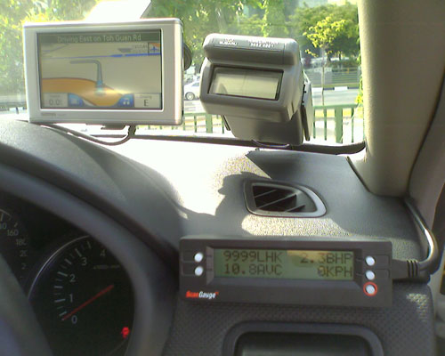 GPS and Scangauge in my car