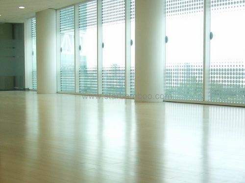 Bamboo flooring in Autodesk office
