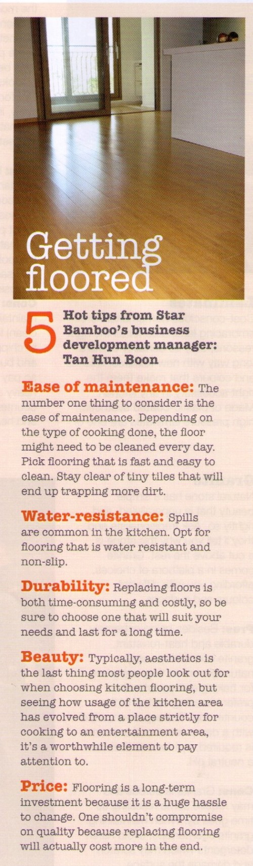 Getting floored - 5 hot flooring tips