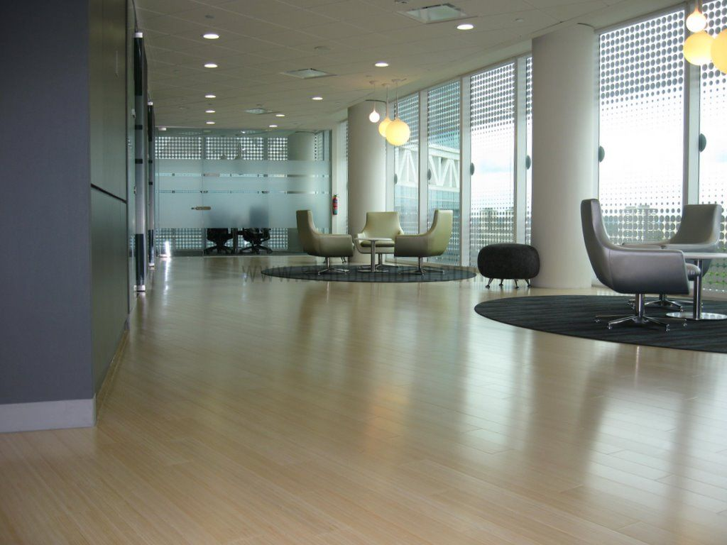 Natural Vertical Bamboo flooring at Autodesk @ Fusionopolis 1